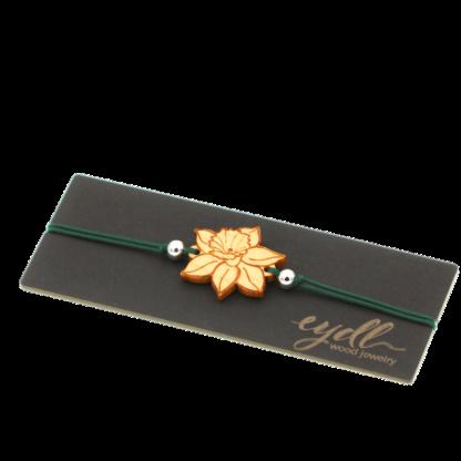 Armband Narzisse aus Ahornholz