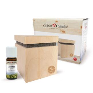 Zirbenwürfel Set Premium mit Zirbenöl