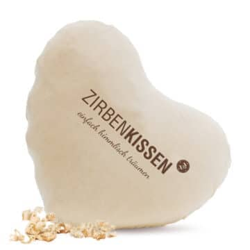 """Zirben Kissen """"Herz"""" 40 x 40cm"""